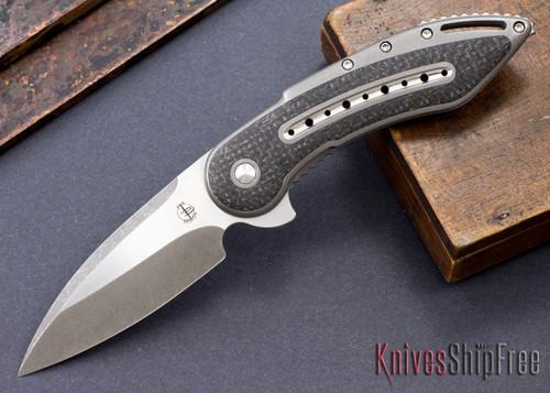 Todd Begg Knives: Custom Glimpse 6.0 - Lightning Strike Inlay - Swedge Grind - 120922