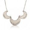 Personalized Engraved Linked Necklace - Sterling Silver