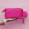 Fiona Double Tassel Keychain - Pink