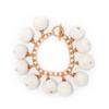 Fiesta Pom Pom Bracelet -  White