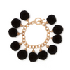 Fiesta Pom Pom Bracelet - Black