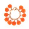 Fiesta Pom Pom Bracelet - Orange