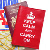 Keep Calm and Carry On Leather Passport Cover, British Passport Cover