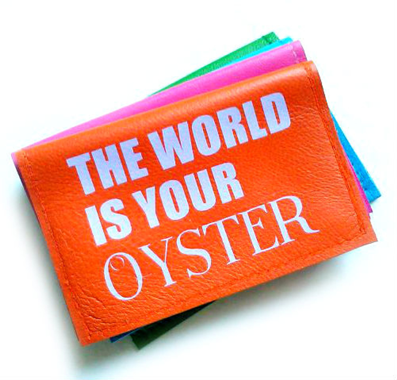 Leather business card holder the world is your oyster leather business card holder travel card holder the world is your oyster colourmoves