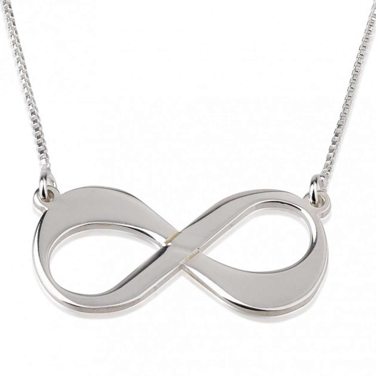 Love Sterling Silver Infinity Necklace Ciao Bambina