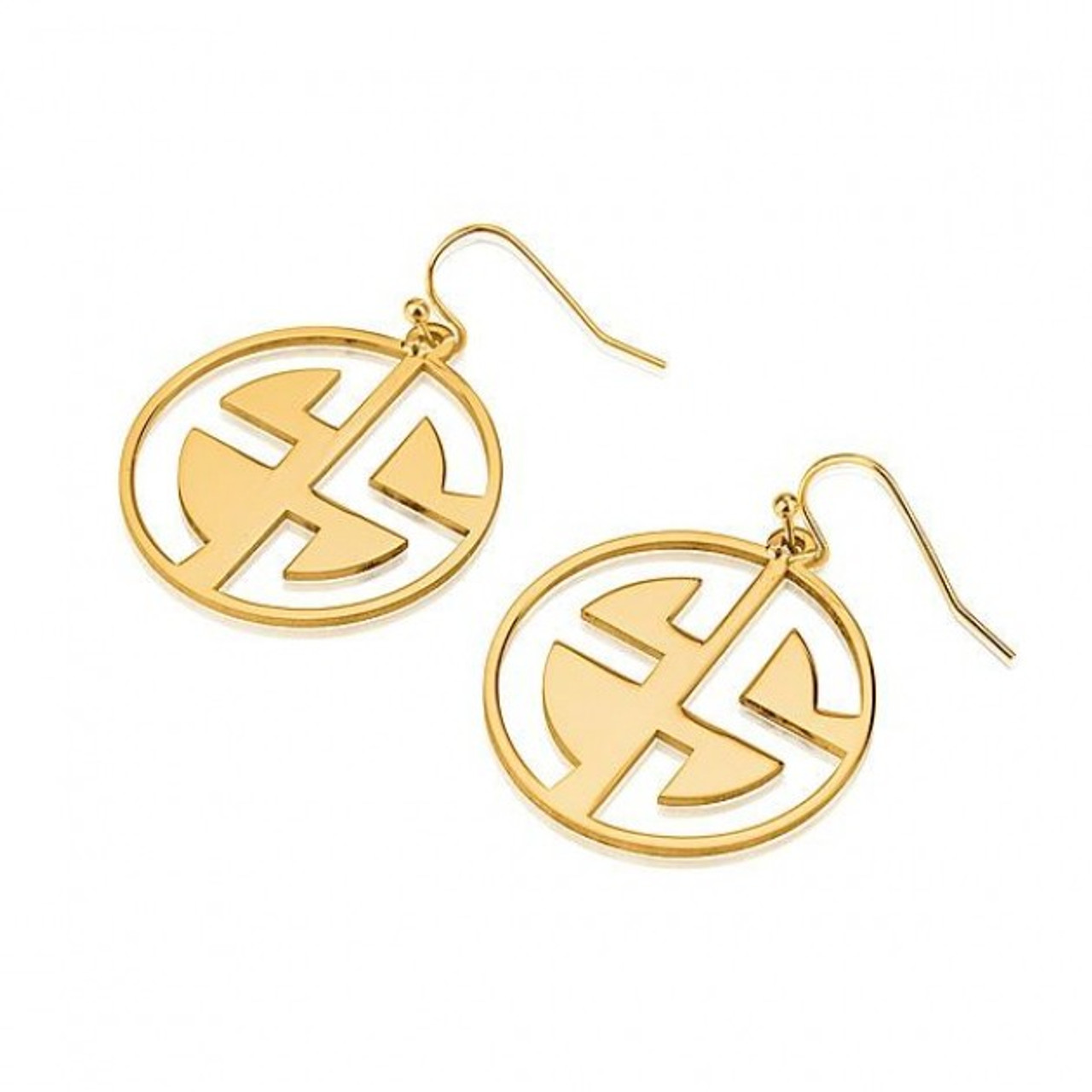 geometricearringsengraved earrings engraved ottava designs geometric monogram