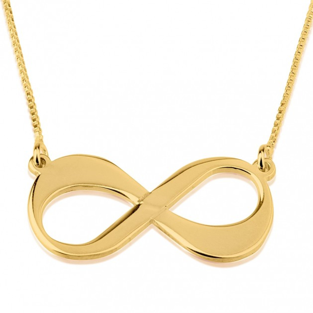 gold jewelers necklace yellow necklaces diamond infinity reeds item l