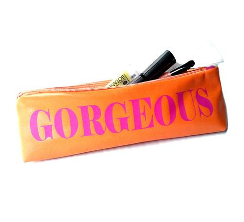 Parola Personalized Monogram Leather Make-Up Case & Cosmetic Bag