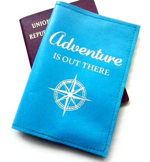leather passport holder cover adventure is out there