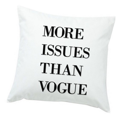 More Issues Than Vogue Throw Pillow - Black