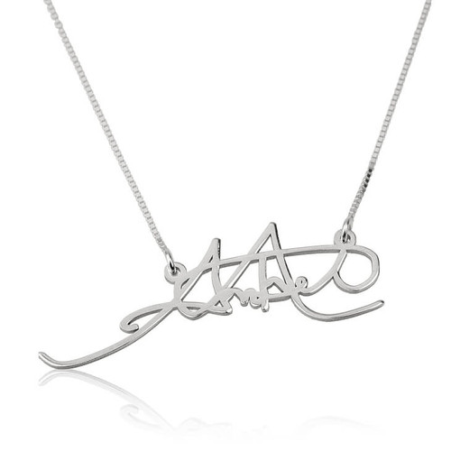 Personalized Handwritten Signature Necklace - Sterling Silver