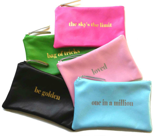 Stella Leather Cosmetic Bag & Personalized Make Up Bag