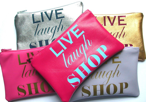 Live Laugh Shop Playful Leather Change Purse, Cheeky Leather Coin Purse, Women's Leather Wallet