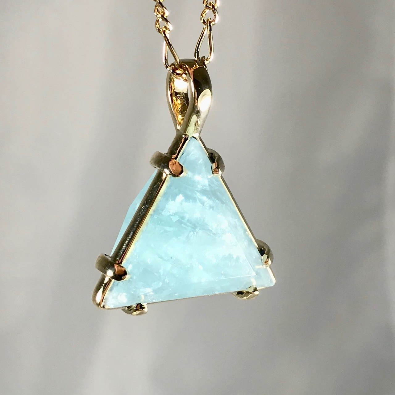 Aquamarine Healing Star of David Pendant