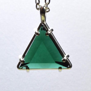 Siberian Green Healing Crystal Star of David Pendant