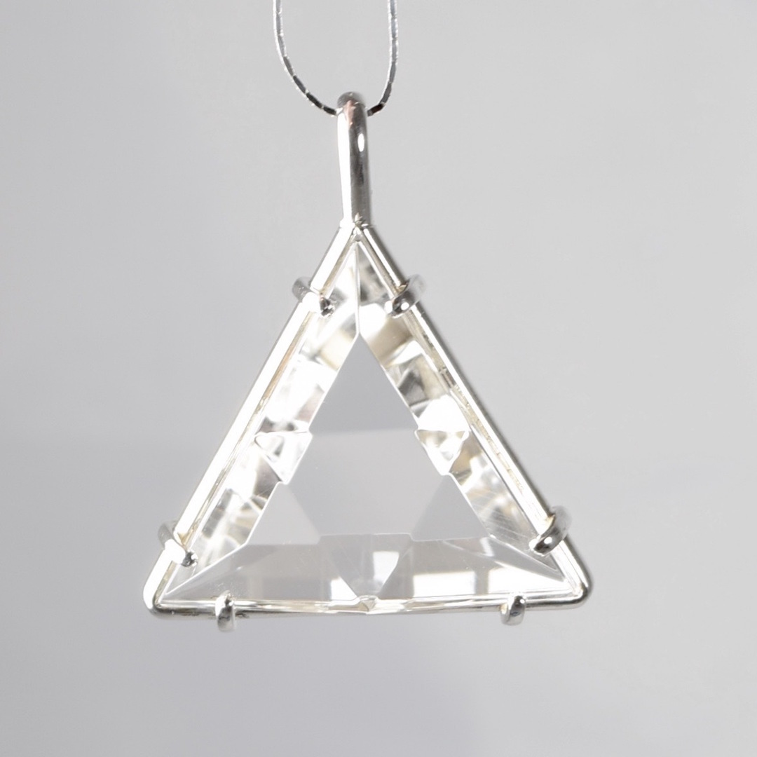 Clear Quartz Healing Crystal Star of David Pendant