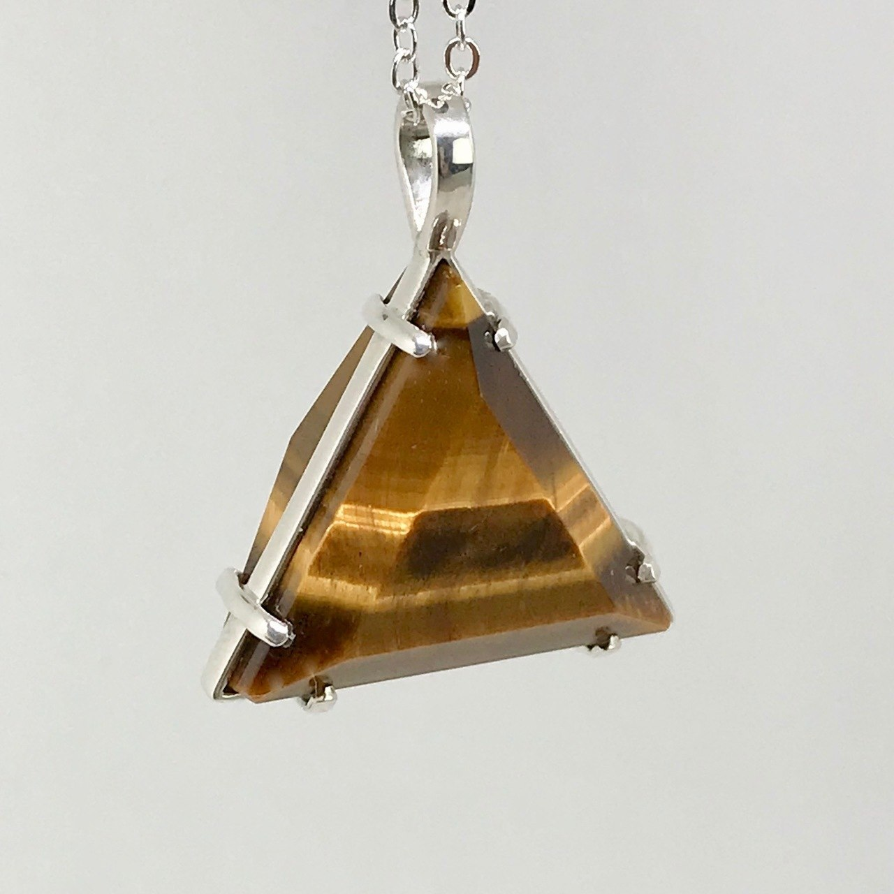 Tigers Eye Healing Crystal Star of David Pendant