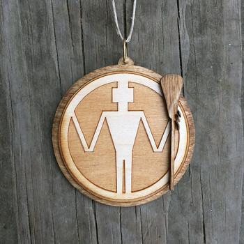 Lacrosse Man Ornament