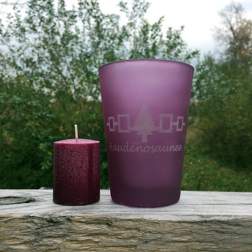 Haudenosaunee Frosted Purple Votive