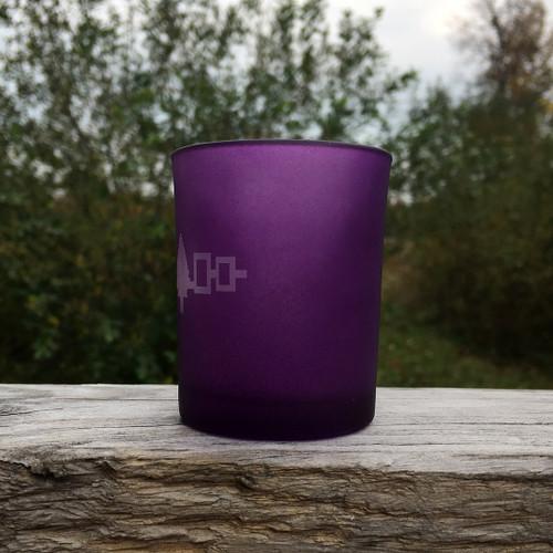 Haudenosaunee Frosted Purple Tealight Votive