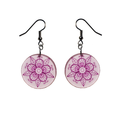 Acrylic Tuscarora Flower Earrings