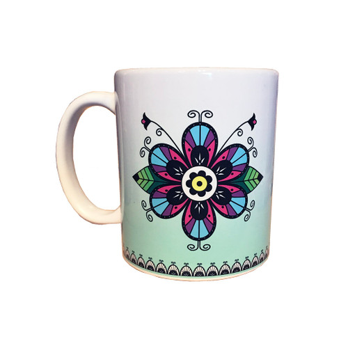 Tuscarora Flower 11 oz. Coffee Mug