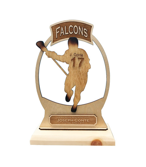 "9.5"" Personalized Lacrosse Trophy"