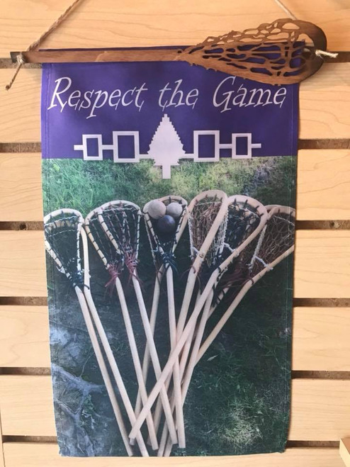 """Respect the Game"" Lacrosse Banner"