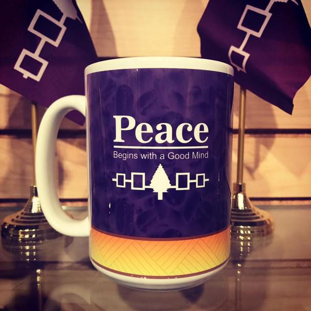 15 oz. Peace...Begins with a Good Mind Ceremic Mug