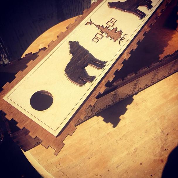 Wooden Wolf Keepsake Box