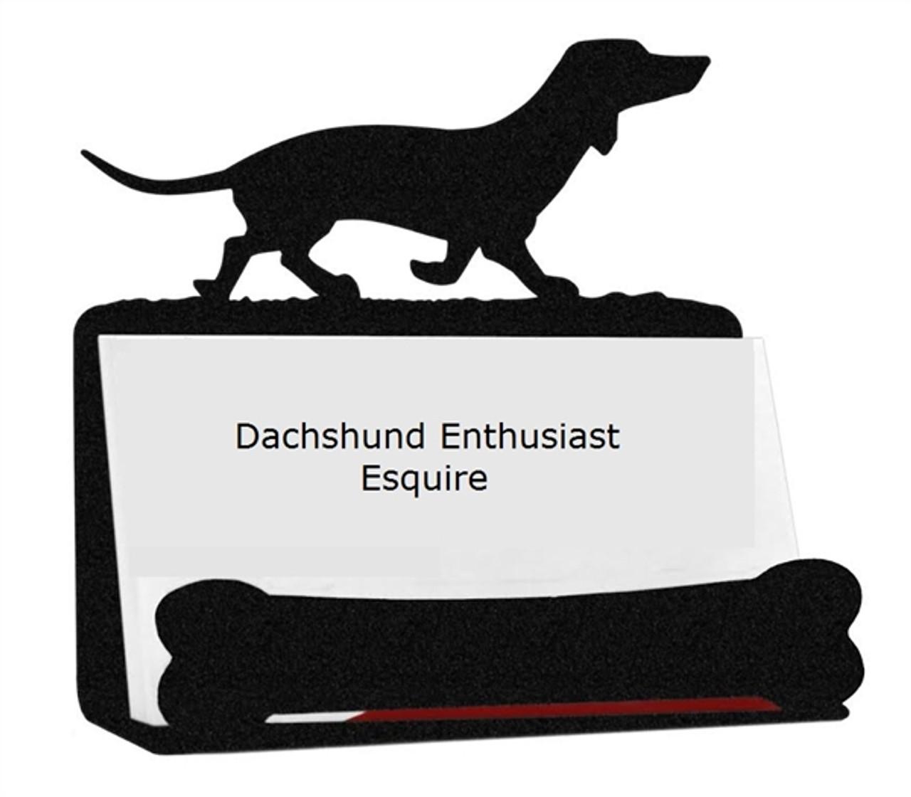 Dachshund wiener dog business card holder dachshund business card holder reheart Image collections