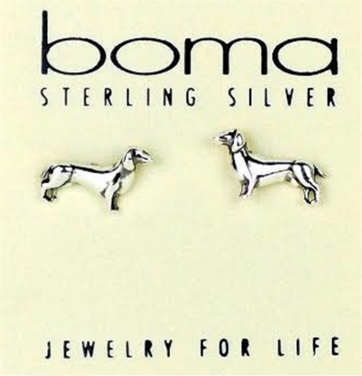 Sterling Silver Dachshund Earrings