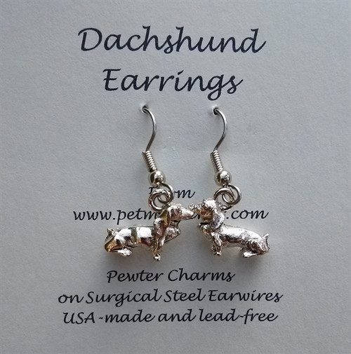 3-D Dachshund Earrings