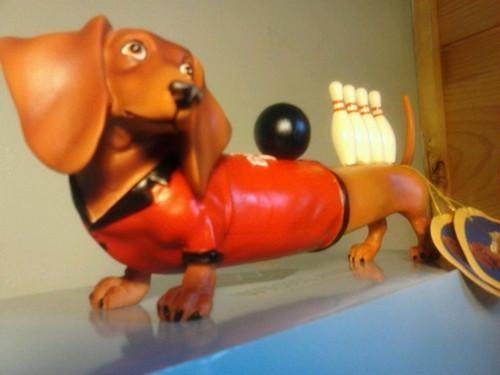 Bowler Dachshund Figurine (RARE)