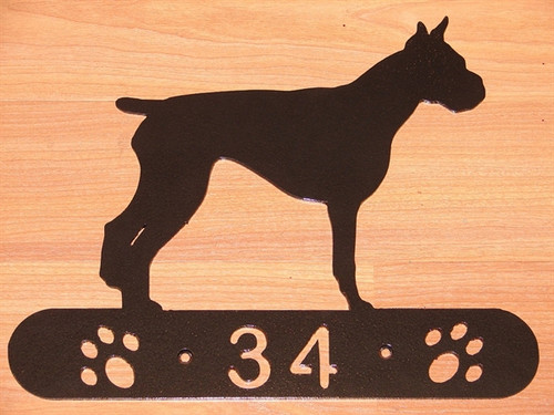 Boxer Address Sign