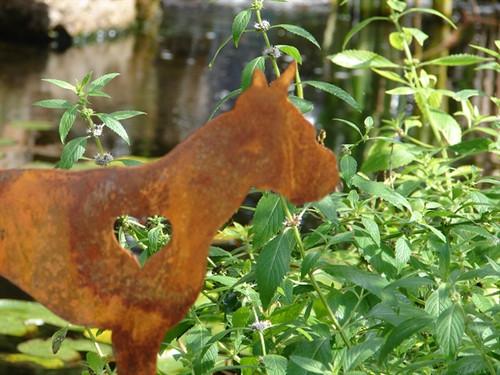 Boxer Garden Stake