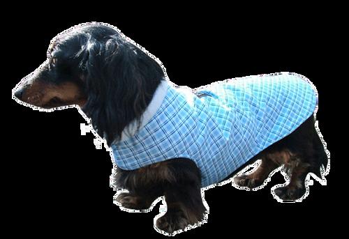 Collarless Designer Fabric Cuddler Dog Coat