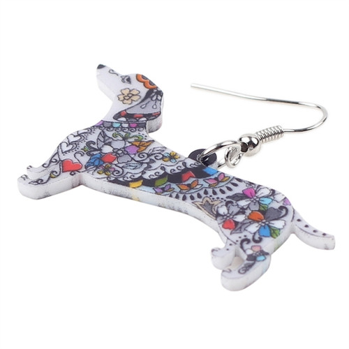 Colorful Dachshund Earrings