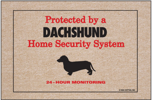Dachshund Doormat (Security)