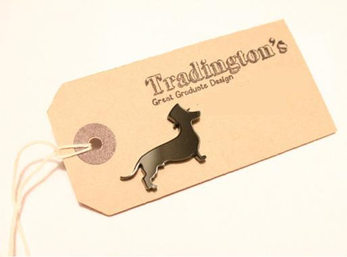 Dachshund with Top Hat Mini Pin