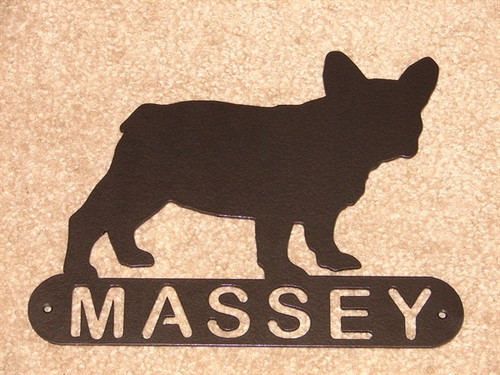 French Bulldog Address Sign