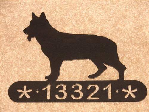 German Shepherd Address Sign