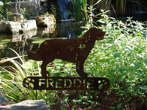 Golden Retriever Garden Stake