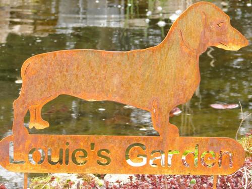 Personalized Dachshund Garden Stake