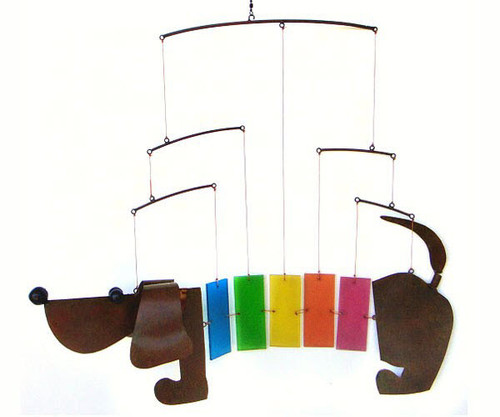 Rainbow Dachsie Mobile Wind Chime