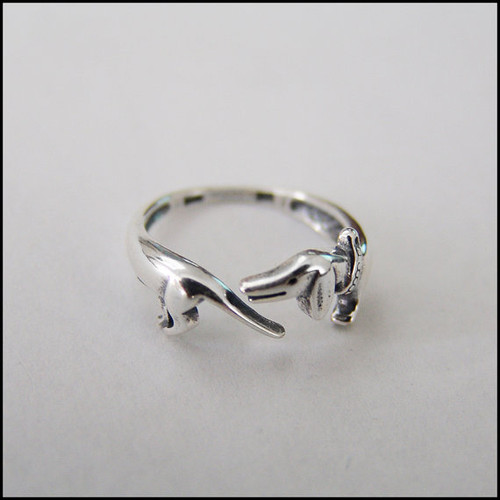 Sterling Silver Dachshund Ring