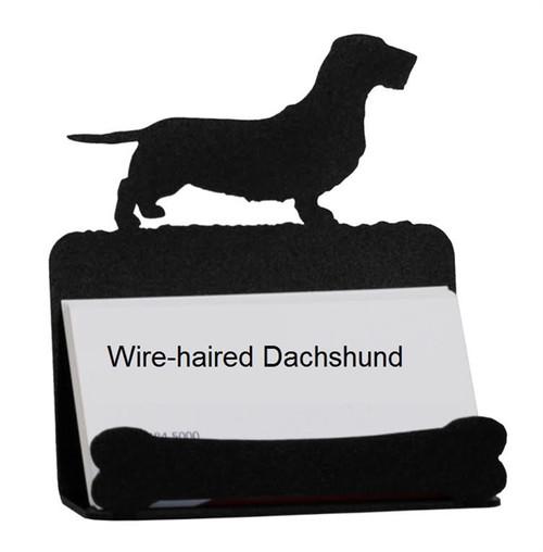 Wire-haired Dachshund Card Holder
