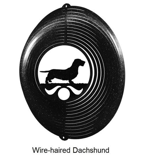 Wire-haired Dachshund Whirligig