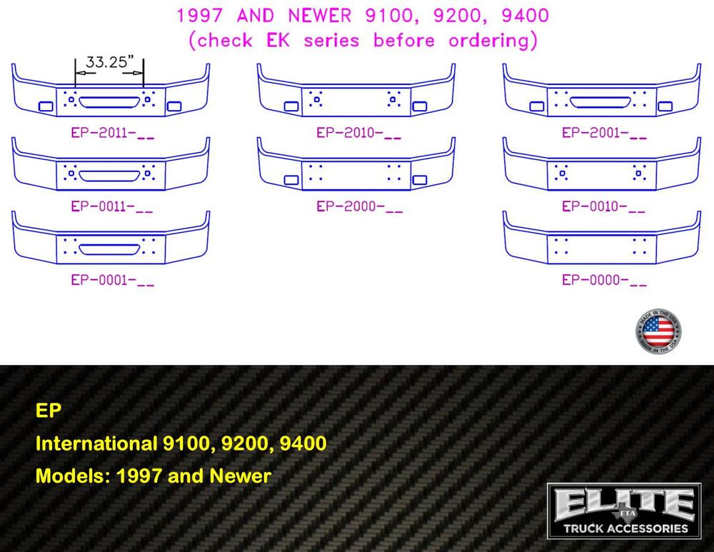 International Bumper 9100, 9200, 9400 1997 and Newer