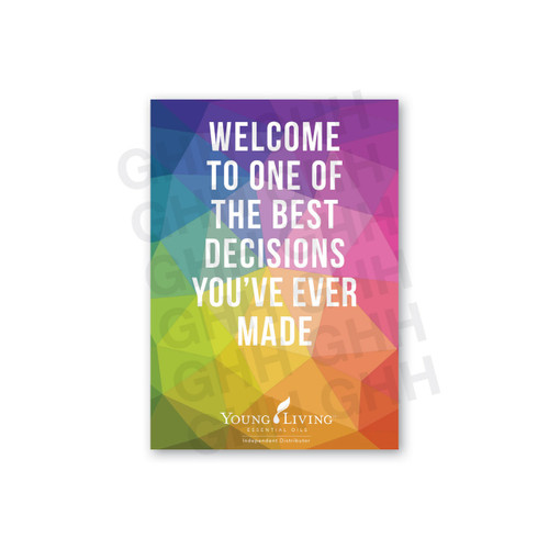 Welcome Card Pack - Best Decision